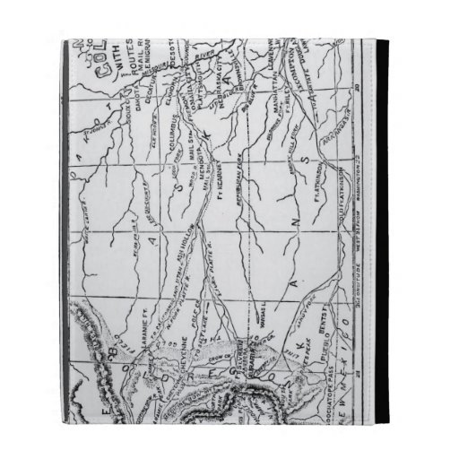 Map of the Gold Region, published in 'The Weekly' iPad Cases