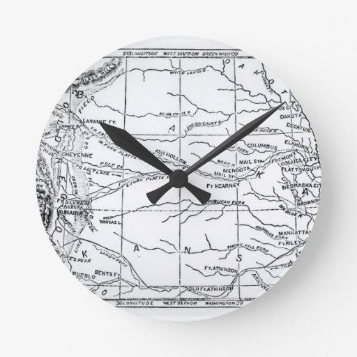 Map of the Gold Region, published in 'The Weekly' Wall Clocks