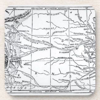 Map of the Gold Region, published in 'The Weekly' Drink Coaster