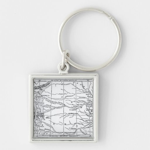 Map of the Gold Region, published in 'The Weekly' Keychains