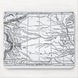 Map of the Gold Region, published in 'The Weekly' Mousepad