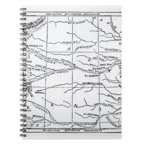 Map of the Gold Region, published in 'The Weekly' Spiral Notebooks