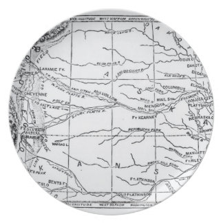 Map of the Gold Region, published in 'The Weekly' Party Plate