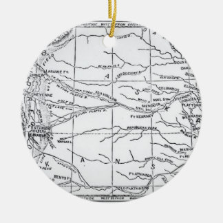 Map of the Gold Region, published in 'The Weekly' Round Ceramic Ornament