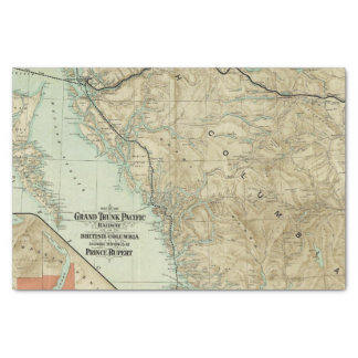 Map Of The Grand Trunk Pacific Railway Tissue Paper