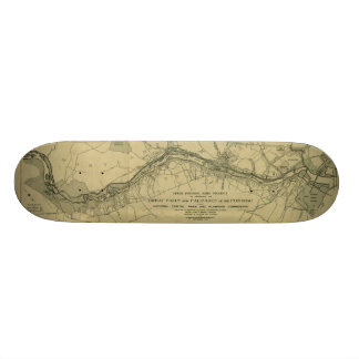 Map of the Great Falls Park (1928) Skate Boards