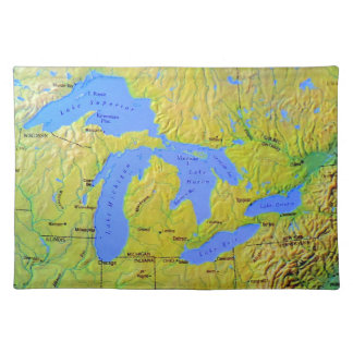 Map of The Great Lakes Design Placemat