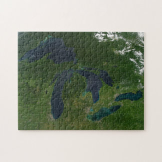 Map of the Great Lakes. Jigsaw Puzzle