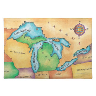 Map of the Great Lakes Placemat
