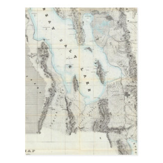 Map of the Great Salt Lake Postcard