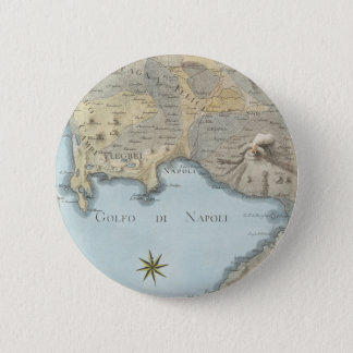 Map of the Gulf of Naples and Surrounding Area 2 Inch Round Button