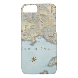 Map of the Gulf of Naples and Surrounding Area iPhone 8/7 Case