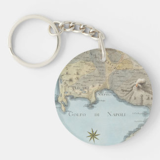 Map of the Gulf of Naples and Surrounding Area Keychain
