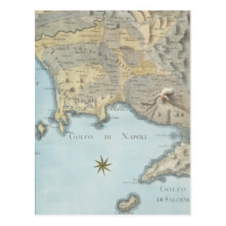 Map of the Gulf of Naples and Surrounding Area Postcard