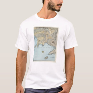 Map of the Gulf of Naples and Surrounding Area T-Shirt