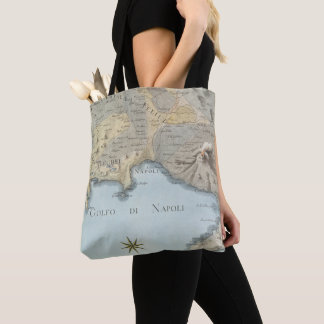 Map of the Gulf of Naples and Surrounding Area Tote Bag