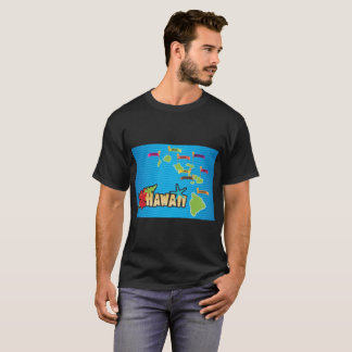 Map of the Hawaii Islands T-Shirt