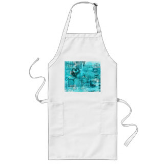 Map of the Heart Valentine (Turquoise) Long Apron