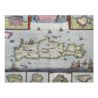 Map of the Island of Candia Postcard