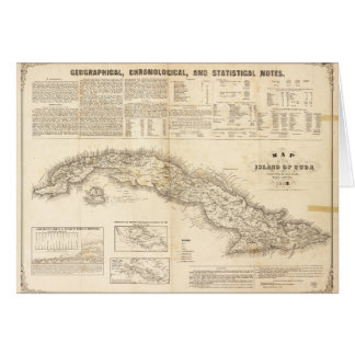 Map of the Island of Cuba (1855) Card