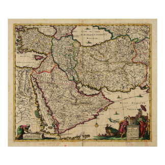 Map of the Middle East (1666) Poster