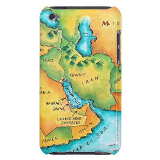 Map of the Middle East Barely There iPod Case