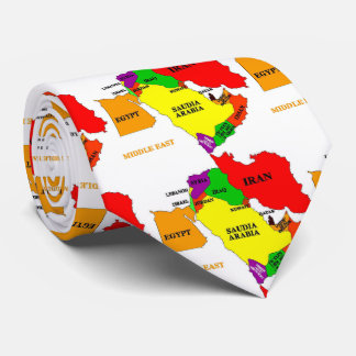 Map Of The Middle East Tie