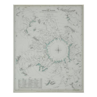 Map of the North Pole Poster