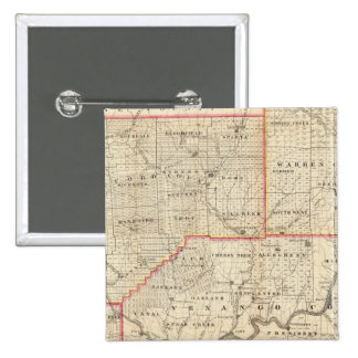 Map of the Oil Region of Pennsylvania 2 Inch Square Button