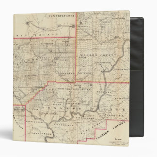 Map of the Oil Region of Pennsylvania 3 Ring Binders