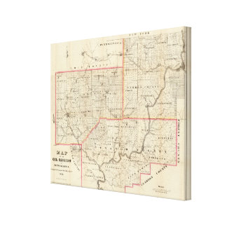 Map of the Oil Region of Pennsylvania Canvas Print