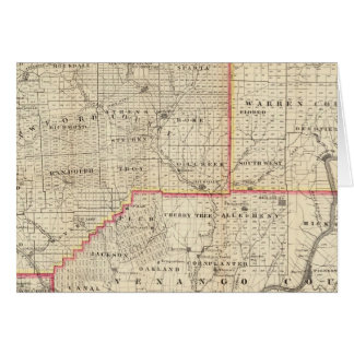 Map of the Oil Region of Pennsylvania Greeting Card
