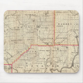 Map of the Oil Region of Pennsylvania Mousepads