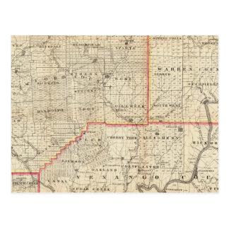 Map of the Oil Region of Pennsylvania Postcard