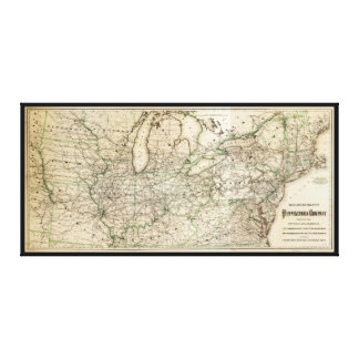 Map of the Pennsylvania Railroad (1871) Canvas Print