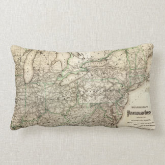 Map of the Pennsylvania Railroad (1871) Lumbar Pillow