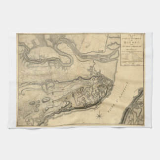 Map of the Province of Quebec Canada (1776) Kitchen Towel