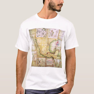 Map of the route followed by Hernando Cortes T-Shirt