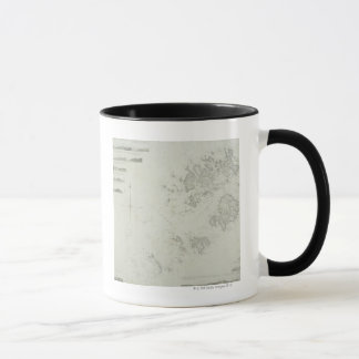 Map of the Scilly Isles in Britain Mug