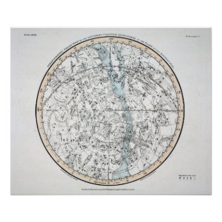 Map of The Southern Hemisphere Plate XXVIII Poster