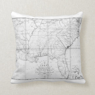 Map of the Southern States of America Pillow