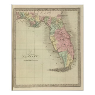 Map of the State of Florida Poster