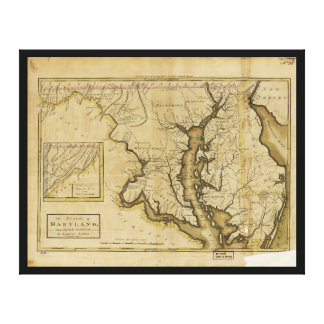 Map of the State of Maryland (1795) Canvas Print