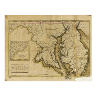 Map of the State of Maryland (1795) Postcard