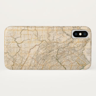 Map of the State of Pennsylvania (1896) Case-Mate iPhone Case