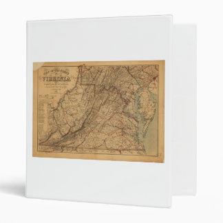 Map of the State of Virginia (1865) Vinyl Binders