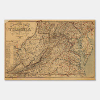 Map of the State of Virginia (1865)