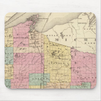 Map of the State of Wisconsin Mouse Pad