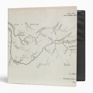 Map of the Tennessee Government 3 Ring Binder