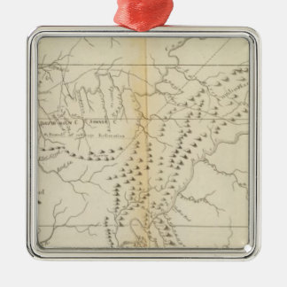 Map of The Tennessee Metal Ornament